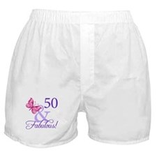 50 And Fabulous Birthday Gifts Boxer Shorts