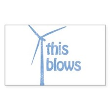 THIS BLOWS WIND ENERGY Rectangle Decal