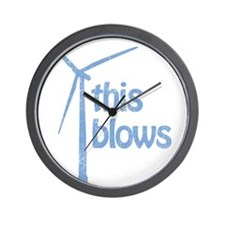 THIS BLOWS WIND ENERGY Wall Clock