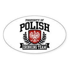 Polish Drinking Team Oval Stickers