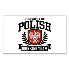 Polish Drinking Team Rectangle Decal