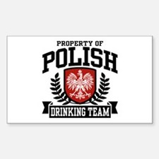 Polish Drinking Team Rectangle Stickers