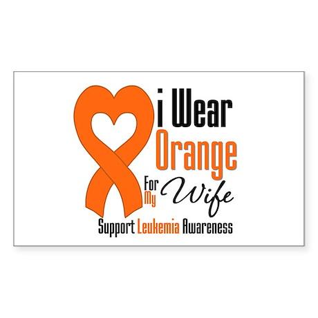 Leukemia Wife Rectangle Sticker
