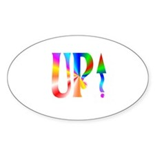 Up Rainbow Oval Decal