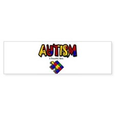 """Autism - A Beautiful Mind"" Bumper Sticker (50 pk)"