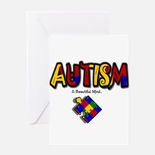 """Autism - A Beautiful Mind"" Greeting Card"