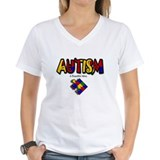 Autism womens Womens V-Neck T-shirts