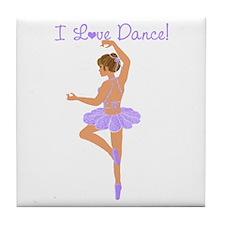 I Love Dance Tile Coaster