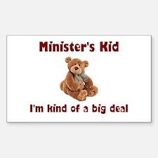 Minister Rectangle Sticker 10 pk)