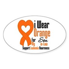 Leukemia Son-in-Law Oval Decal
