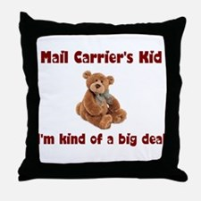 Mail Carrier Throw Pillow