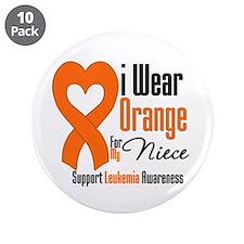 "Leukemia Niece 3.5"" Button (10 pack)"