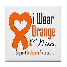 Leukemia Niece Tile Coaster