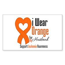 Leukemia Husband Rectangle Decal