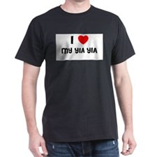 I LOVE CYRUS Black T-Shirt