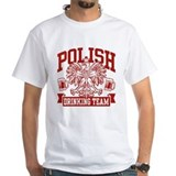 Polish drinking team Mens White T-shirts