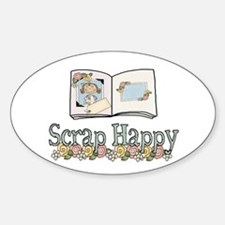 Scrap Happy Oval Decal