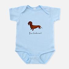 Dachshund Illustration Infant Bodysuit