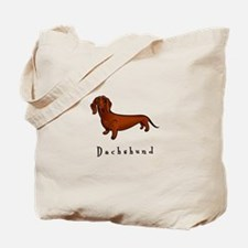 Dachshund Illustration Tote Bag