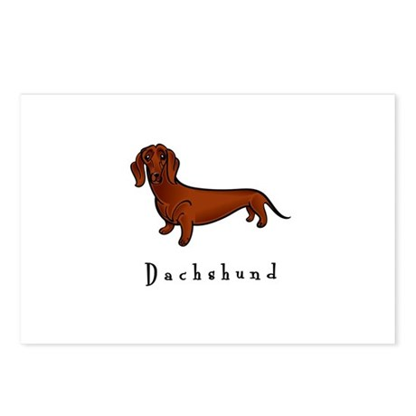Dachshund Illustration Postcards (Package of 8)