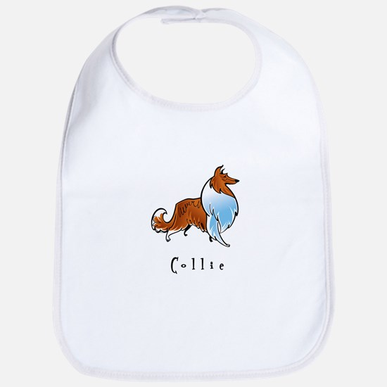 Collie Illustration Bib