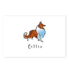 Collie Illustration Postcards (Package of 8)