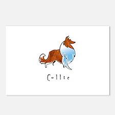 Collie Illustration Postcards (Package of 8)