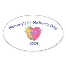 Mommy's 1st Mother's Day 2009 (Heart) Decal
