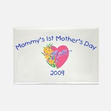 Mommy's 1st Mother's Day 2009 (Heart) Rectangle Ma