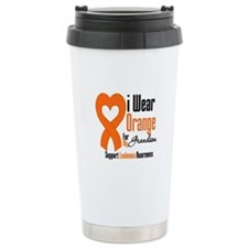 Leukemia Grandson Travel Mug