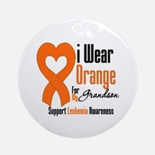 Leukemia Grandson Ornament (Round)