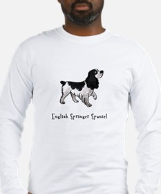 English Springer Spaniel Illustrated Long Sleeve T