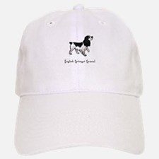 English Springer Spaniel Illustrated Baseball Baseball Cap