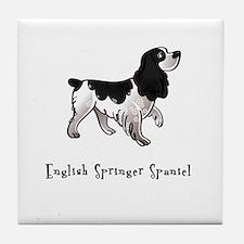 English Springer Spaniel Illustrated Tile Coaster
