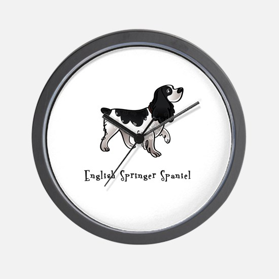 English Springer Spaniel Illustrated Wall Clock