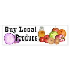 buy local produce Bumper Bumper Sticker