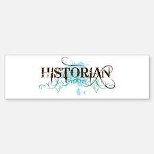Cool Blue Historian Bumper Bumper Bumper Sticker