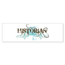 Cool Blue Historian Bumper Bumper Sticker