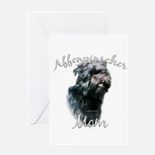 Affenpinscher Mom 2 Greeting Card