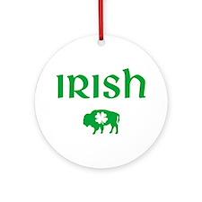 Buffalo Irish Ornament (Round)