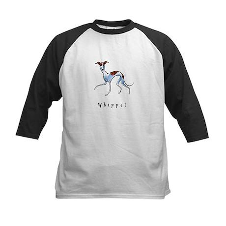 Whippet Illustration Kids Baseball Jersey
