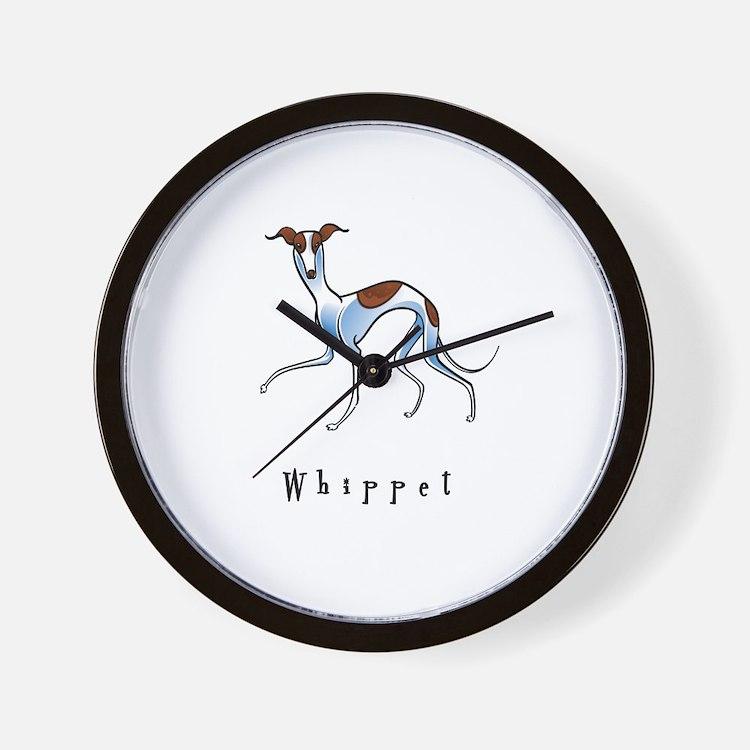 Whippet Illustration Wall Clock