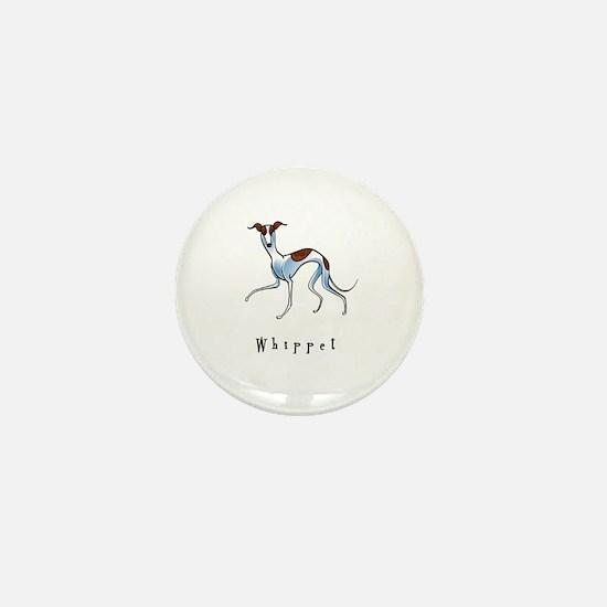 Whippet Illustration Mini Button