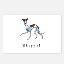Whippet Illustration Postcards (Package of 8)