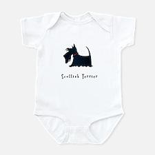 Scottish Terrier Illustration Infant Bodysuit