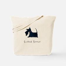 Scottish Terrier Illustration Tote Bag