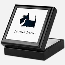 Scottish Terrier Illustration Keepsake Box