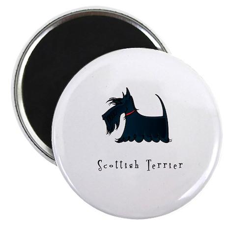 "Scottish Terrier Illustration 2.25"" Magnet (10 pac"