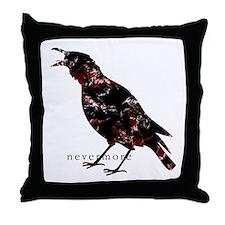 Cute A murder of crows Throw Pillow