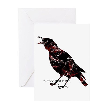 2-nevermore_small Greeting Cards